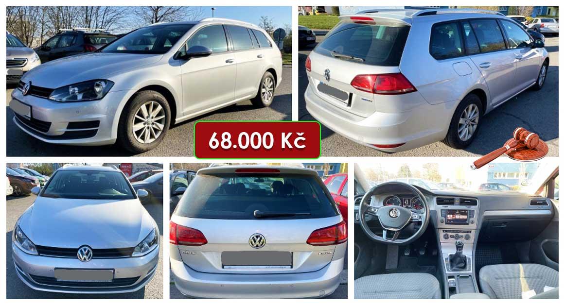 Do 22.4.2021 Aukce automobilu Volkswagen Golf 1.6 TDi. Vyvolávací cena 68.000 Kč, ➡️ ID798758