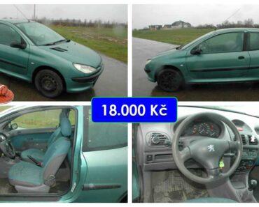 Do 27.5.2021 Aukce automobilu Peugeot 206. Vyvolávací cena 10.000 Kč, ➡️ ID801420