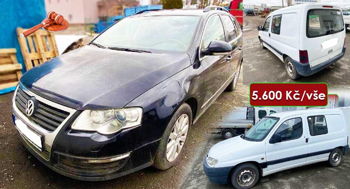 Do 27.4.2021 Aukce různých vozidel VW Passat Variant a Peugeot Partner. Vyvolávací cena 5.600 Kč, ➡️ ID798623