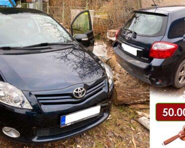 8.7.2021 Dražba automobilu Toyota Auris 1.6i. Vyvolávací cena 50.000 Kč, ➡️ ID800253