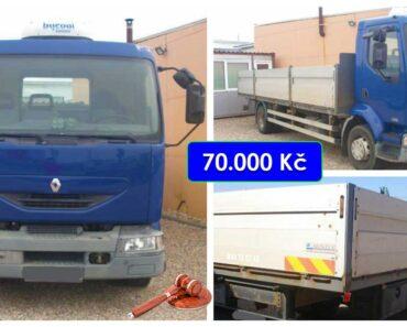21.4.2021 Aukce nákladního automobilu Renault Midlum. Vyvolávací cena 70.000 Kč, ➡️ ID796813