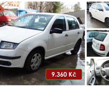 Do 25.4.2021 Aukce automobilu Škoda Fabia 1.4. Vyvolávací cena 9.360 Kč, ➡️ ID798194