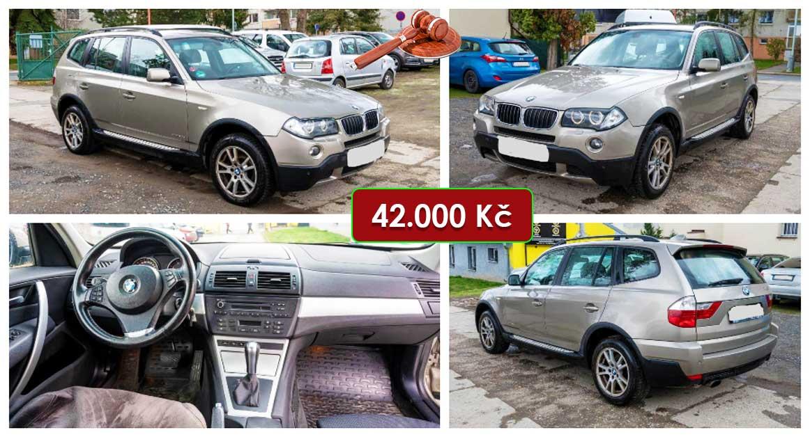 13.5.2021 Dražba automobilu BMW X3 xDrive 2.0 D. Vyvolávací cena 42.000 Kč, ➡️ ID798450