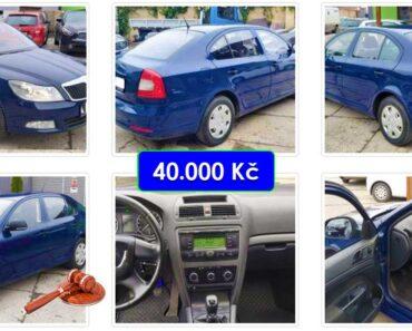 27.4.2021 Aukce automobilu Škoda Octavia II. Vyvolávací cena 40.000 Kč, ➡️ ID797124