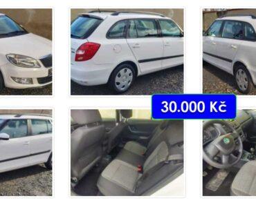 27.4.2021 Aukce automobilu Škoda Fabia Combi. Vyvolávací cena 30.000 Kč, ➡️ ID797282