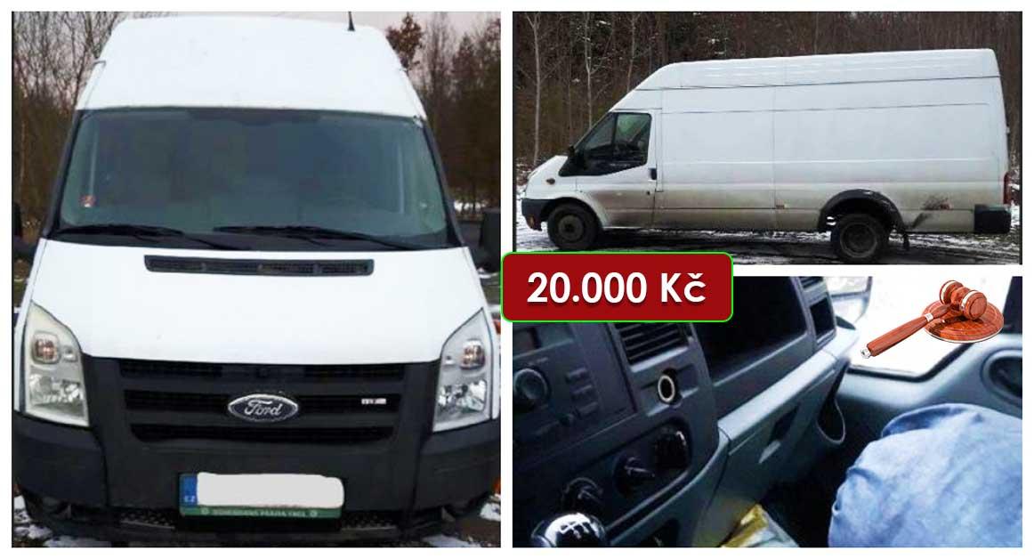 Do 6.5.2021 Aukce automobilu Ford Transit. Vyvolávací cena 20.000 Kč, ➡️ ID798740