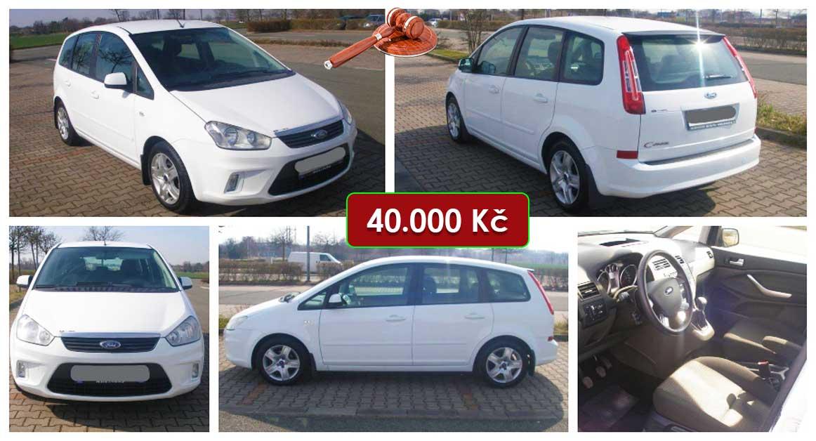 14.5.2021 Aukce automobilu Ford C- Max. Vyvolávací cena 40.000 Kč, ➡️ ID798696