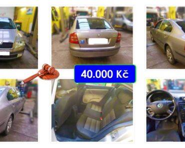 27.4.2021 Aukce automobilu Škoda Octavia II. Vyvolávací cena 40.000 Kč, ➡️ ID797145