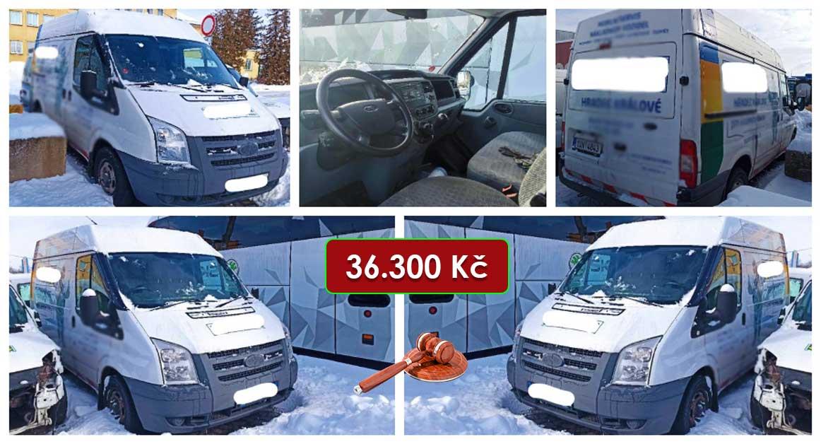 Do 13.5.2021 Dražba automobilu Ford Transit 260 S. Vyvolávací cena 36.300 Kč, ➡️ ID798738