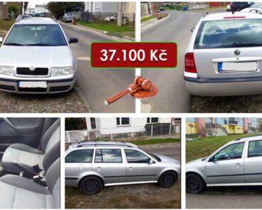 19.5.2021 Dražba automobilu Škoda Octavia combi. Vyvolávací cena 37.100 Kč, ➡️ ID798238