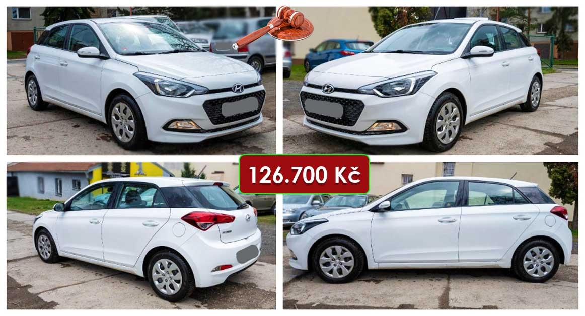 20.5.2021 Dražba automobilu Hyundai i20. Vyvolávací cena 126.700 Kč, ➡️ ID798672