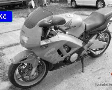 Do 30.4.2021 Motocykl Honda CBR 600F - 8.000 Kč