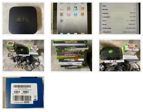 19.5.2021 Dražba elektroniky (noční kamera, Apple TV, Apple iPad 32GB, Xbox). Vyvolávací cena 4.000 Kč, ➡️ ID798614