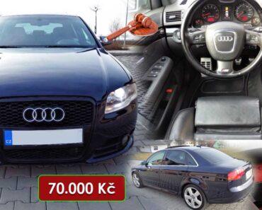 23.6.2021 Dražba auta Audi S4 4.2 V8 Quattro. Vyvolávací cena 70.000 Kč, ➡️ ID2143589
