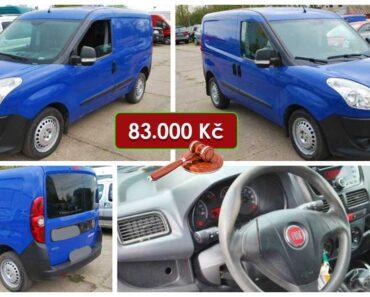 15.5.2021 Dražba automobilu Fiat Doblo Cargo. Vyvolávací cena 83.000 Kč, ➡️ ID802811