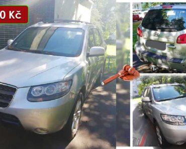 26.7.2021 Dražba automobilu Hyundai Santa-Fe 2.2l. Vyvolávací cena 10.000 Kč, ➡️ ID802346