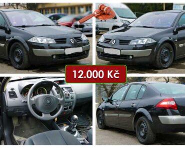 Do 17.5.2021 Aukce automobilu Renault Megane 1.9 DCi. Vyvolávací cena 12.000 Kč, ➡️ ID803091