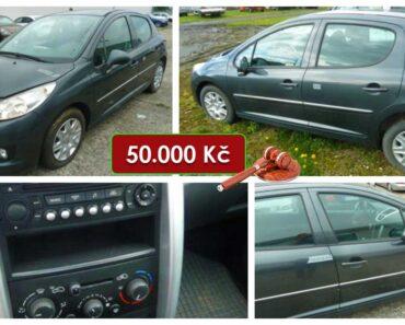 7.6.2021 Dražba automobilu Peugeot 207. Vyvolávací cena 50.000 Kč, ➡️ ID802065