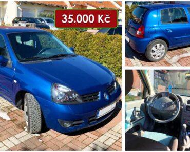 29.6.2021 Aukce automobilu Renault Clio. Vyvolávací cena 35.000 Kč, ➡️ ID806069