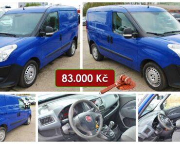 15.5.2021 Dražba automobilu Fiat Doblo Cargo. Vyvolávací cena 83.000 Kč, ➡️ ID802830
