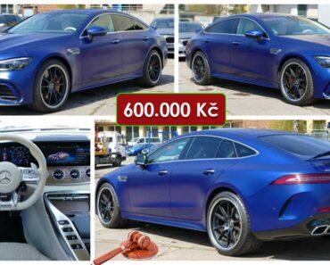 Do 17.5.2021 Aukce automobilu Mercedes Benz-AMG GT 63. Vyvolávací cena 600.000 Kč, ➡️ ID803081