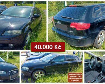 22.6.2021 Dražba automobilu Audi A3 Sportback. Vyvolávací cena 40.000 Kč, ➡️ ID805943