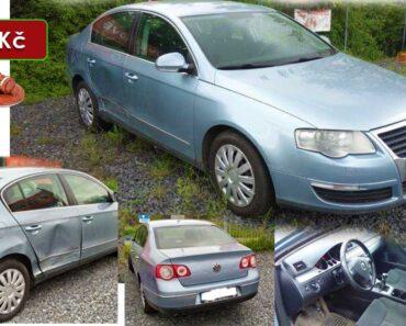 7.7.2021 Aukce automobilu VW Passat. Vyvolávací cena 2.000 Kč, ➡️ ID809132