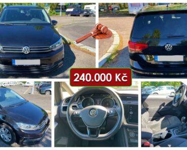 23.6.2021 Dražba automobilu VW Touran 1.6 TDI Comfortline. Vyvolávací cena 240.000 Kč, ➡️ ID808773