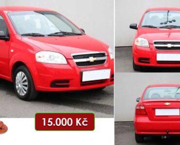 7.7.2021 Aukce automobilu Chevrolet Aveo. Vyvolávací cena 15.000 Kč, ➡️ ID809110