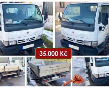 21.7.2021 Dražba nákladního automobilu Nissan Cabstar. Vyvolávací cena 35.000 Kč, ➡️ ID809090