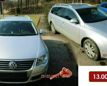 13.7.2021 Dražba automobilu VW Passat. Vyvolávací cena 13.000 Kč, ➡️ ID807189