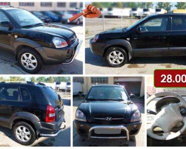 6.6.2021 Aukce automobilu Hyundai Tucson 2.0 CRDI 4WD. Vyvolávací cena 28.000 Kč, ➡️ ID807424