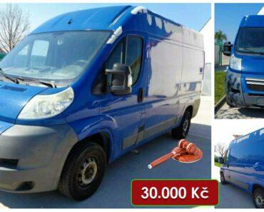 13.7.2021 Dražba automobilu Citroën Jumper 2.2 HDI. Vyvolávací cena 30.000 Kč, ➡️ ID808403
