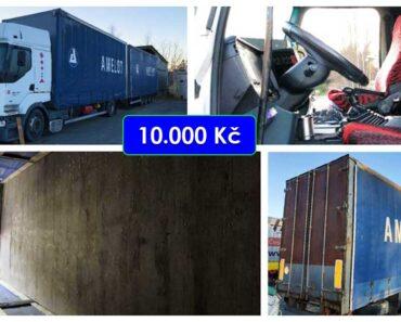 28.7.2021 Dražba nákladního automobilu Renault Premium s přívěsem. Vyvolávací cena 10.000 Kč, ➡️ ID806927