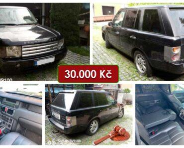 21.7.2021 Dražba automobilu Land Range Rover 3.0. Vyvolávací cena 30.000 Kč, ➡️ ID809070