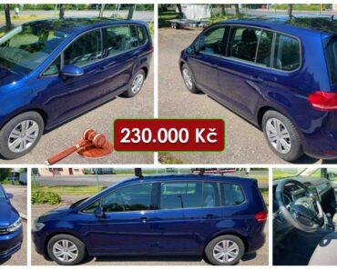 16.6.2021 Dražba automobilu Volkswagen Touran 1.6 TDI. Vyvolávací cena 230.000 Kč, ➡️ ID807824