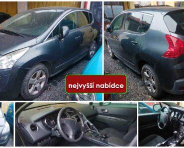 Do 31.8.2021 Výběrové řízení na prodej automobilu Peugeot 3008. Min. kupní cena - prodej nejvyšší nabídce Kč, ➡️ ID810286