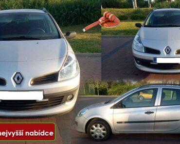 Do 2.7.2021 Výběrové řízení na prodej automobilu Renaut Clio Kombi. Min. kupní cena - prodej nejvyšší nabídce Kč, ➡️ ID809048