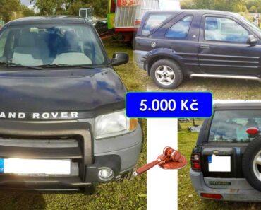 10.8.2021 Dražba automobilu Land Rover 1.8. Vyvolávací cena 5.000 Kč, ➡️ ID810762