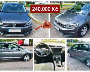 22.6.2021 Dražba automobilu VW Touran 1.6 TDI. Vyvolávací cena 240.000 Kč, ➡️ ID808274