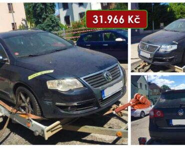 7.7.2021 Dražba automobilu VW Passat 2.0 TDi. Vyvolávací cena 31.966 Kč, ➡️ ID808715