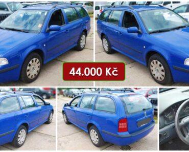 7.8.2021 Dražba automobilu Škoda Octavia Combi. Vyvolávací cena 44.000 Kč, ➡️ ID814183