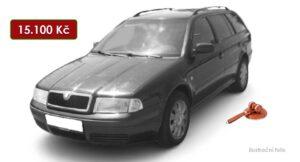 Do 6.8.2021 bude probíhat aukce auta Škoda Octavia Combi, vyvol. cena 15.100 Kč