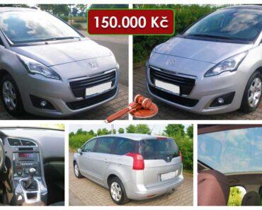 19.8.2021 Aukce automobilu Peugeot 5008. Vyvolávací cena 150.000 Kč, ➡️ ID810916