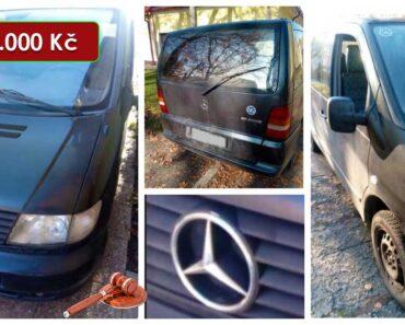 16.8.2021 Dražba automobilu Mercedes Vito 108 CDI. Vyvolávací cena 5.000 Kč, ➡️ ID812660