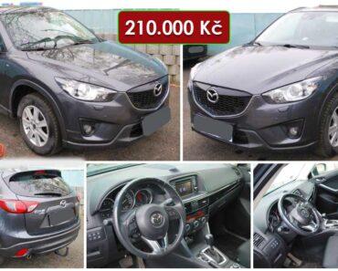 7.8.2021 Dražba automobilu Mazda CX 5. Vyvolávací cena 210.000 Kč, ➡️ ID814565