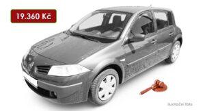 Do 8.8.2021 bude probíhat aukce auta Renault Megane, vyvol. cena 19.360 Kč