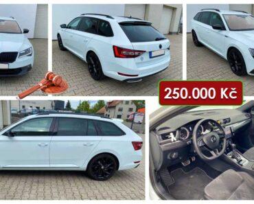 19.8.2021 Aukce automobilu Škoda Superb TDi, 140 kW. Vyvolávací cena 250.000 Kč, ➡️ ID813406