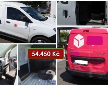 18.8.2021 Dražba automobilu Dacia Dokker. Vyvolávací cena 54.450 Kč, ➡️ ID812966