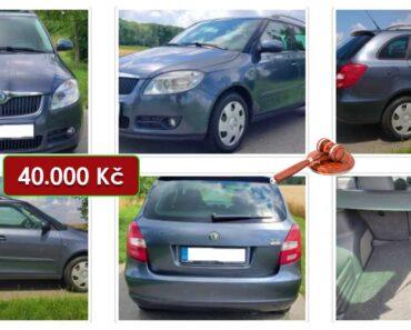 5.8.2021 Aukce automobilu Škoda Fabia Combi. Vyvolávací cena 40.000 Kč, ➡️ ID814255